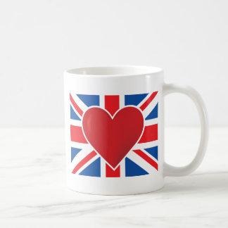 Bandera de Británicos del corazón Taza