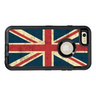 Bandera de Británicos del vintage de Union Jack Funda OtterBox Defender Para iPhone 6 Plus