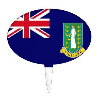 Bandera de British Virgin Islands Figura De Tarta