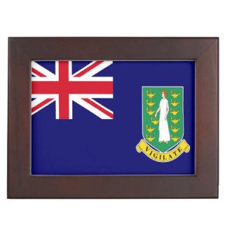 Bandera de British Virgin Islands Caja De Recuerdos