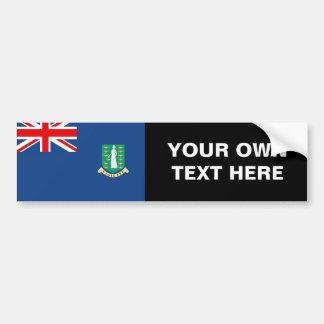 Bandera de British Virgin Islands Pegatina Para Auto