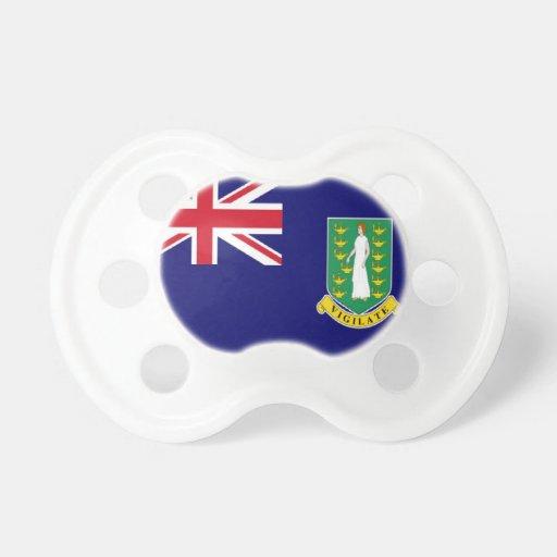 Bandera de British Virgin Islands Chupetes Para Bebés