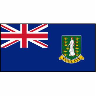 Bandera de British Virgin Islands Escultura Fotografica