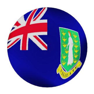 Bandera de British Virgin Islands Fichas De Póquer
