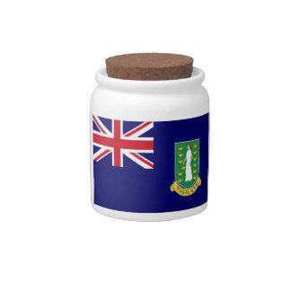 Bandera de British Virgin Islands Jarra Para Caramelo