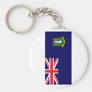 Bandera de British Virgin Islands Llavero Redondo Tipo Pin