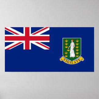 Bandera de British Virgin Islands Posters