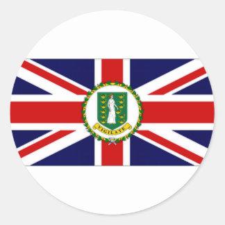 Bandera de British Virgin Islands Etiquetas