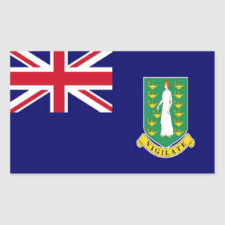 Bandera de British Virgin Islands Etiqueta