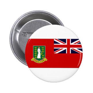 Bandera de British Virgin Islands Pin Redondo De 2 Pulgadas