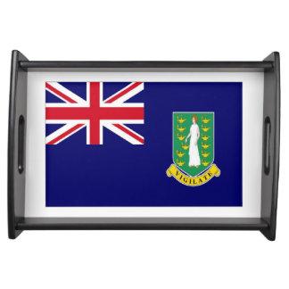 Bandera de British Virgin Islands Bandeja