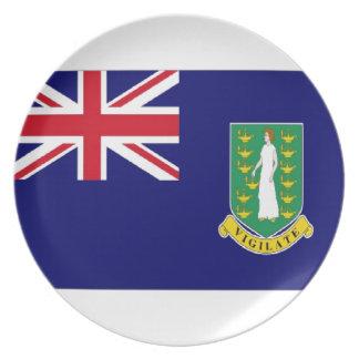Bandera de British Virgin Islands Platos Para Fiestas