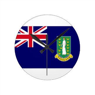 Bandera de British Virgin Islands Relojes De Pared