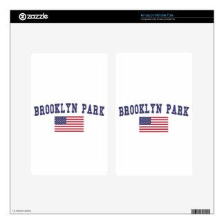 Bandera de Brooklyn Park los E.E.U.U. Kindle Fire Pegatina Skin