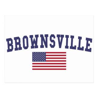 Bandera de Brownsville los E.E.U.U. Tarjetas Postales
