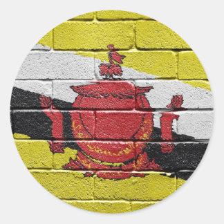 Bandera de Brunei Pegatinas Redondas