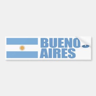 Bandera de Buenos Aires, la Argentina Pegatina Para Auto