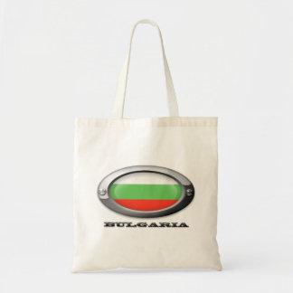 Bandera de Bulgaria en el marco de acero Bolsa Tela Barata