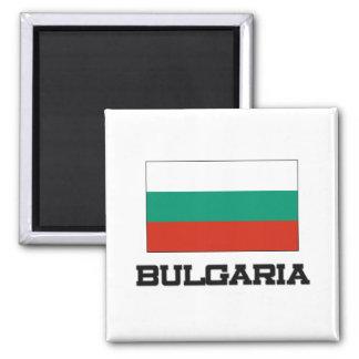 Bandera de Bulgaria Imán Cuadrado