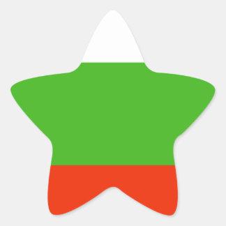 Bandera de Bulgaria Pegatina En Forma De Estrella