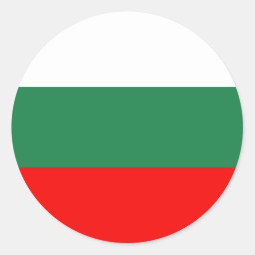 Bandera de Bulgaria Pegatina Redonda