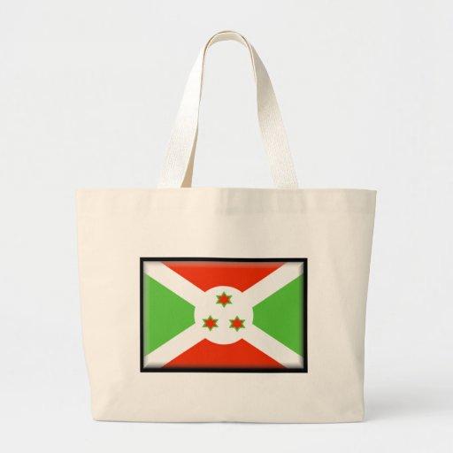 Bandera de Burundi Bolsa Tela Grande