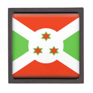 Bandera de Burundi Cajas De Recuerdo De Calidad