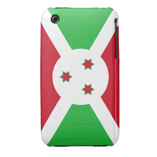 Bandera de Burundi Case-Mate iPhone 3 Carcasas