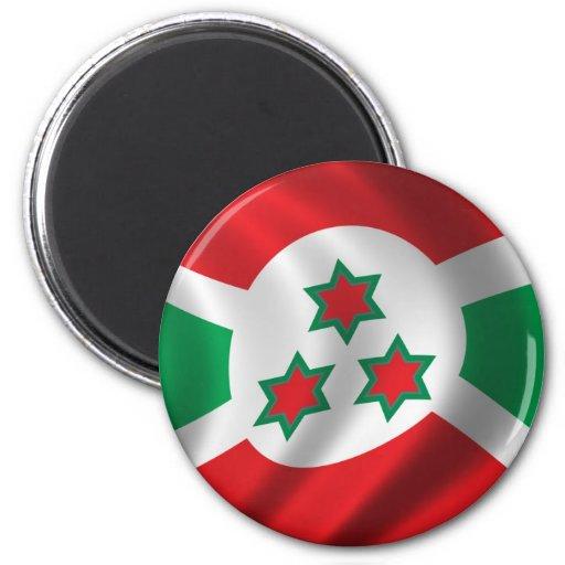 Bandera de Burundi Imán Redondo 5 Cm