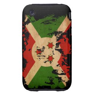 Bandera de Burundi iPhone 3 Tough Fundas