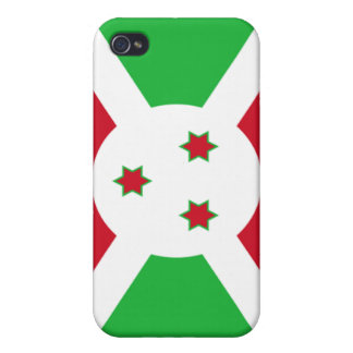 Bandera de Burundi iPhone 4/4S Fundas