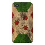 Bandera de Burundi iPhone 4 Fundas