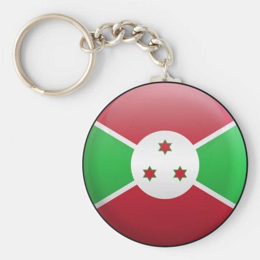 Bandera de Burundi Llavero Redondo Tipo Pin