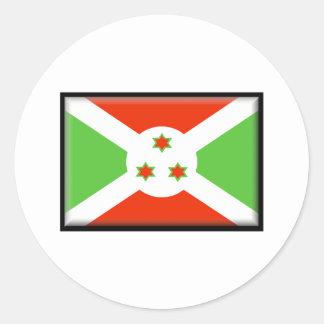 Bandera de Burundi Pegatina Redonda