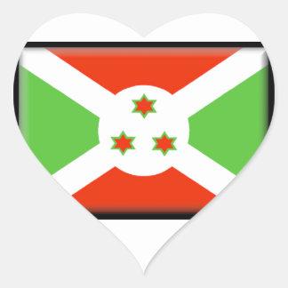 Bandera de Burundi Pegatina En Forma De Corazón