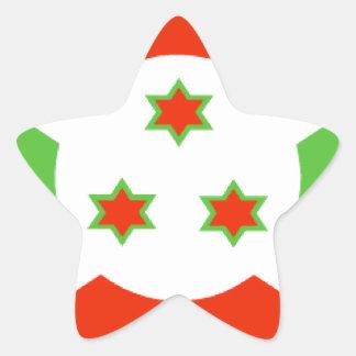 Bandera de Burundi Pegatina En Forma De Estrella