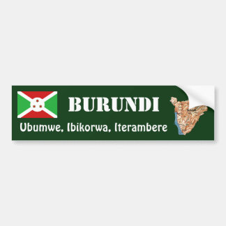 Bandera de Burundi + Pegatina para el parachoques Etiqueta De Parachoque