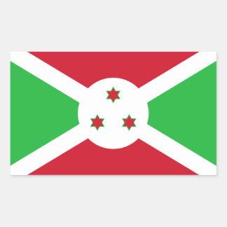 Bandera de Burundi Pegatina Rectangular