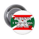 Bandera de Burundi Pin Redondo 5 Cm