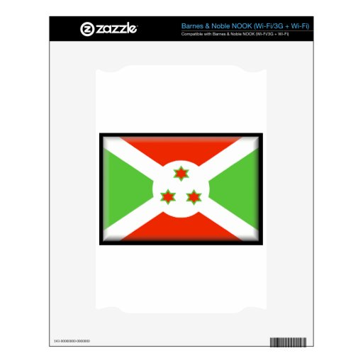 Bandera de Burundi Skin Para El NOOK