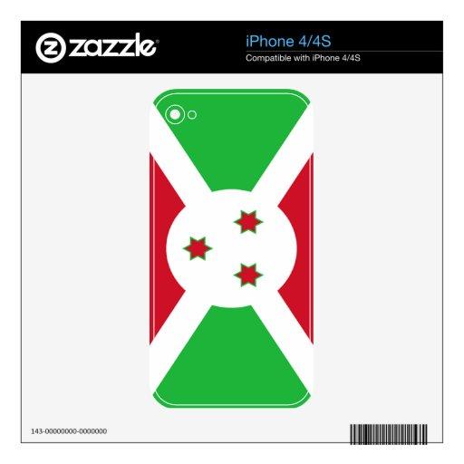 Bandera de Burundi Skins Para iPhone 4