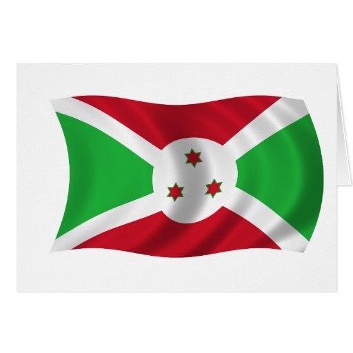 Bandera de Burundi Tarjeta De Felicitación
