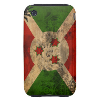 Bandera de Burundi Tough iPhone 3 Fundas