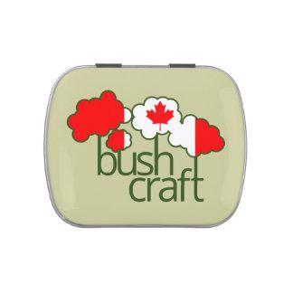 Bandera de Bushcraft Canadá Jarrones De Caramelos