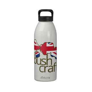 Bandera de Bushcraft Reino Unido Botella De Agua