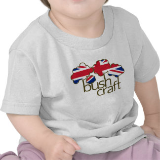 Bandera de Bushcraft Reino Unido Camiseta