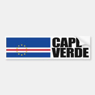 Bandera de Cabo Verde Pegatina De Parachoque