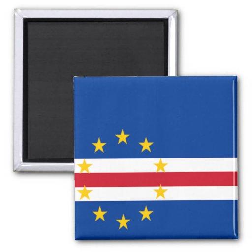 Bandera de Cabo Verde Imán Cuadrado