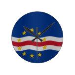 Bandera de Cabo Verde Reloj Redondo Mediano
