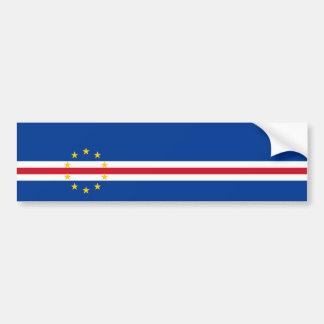 Bandera de Cabo Verde/Verdian/Verdean Pegatina Para Auto
